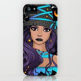 Gothic Witch Girl iPhone Case
