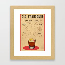 HOW TO: OLD FASHIONED Framed Art Print