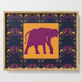 indian elephant Serving Tray