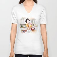 cook V-neck T-shirts featuring cook by tatiana-teni