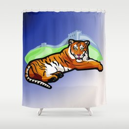 the Tiger  Der Tiger Shower Curtain