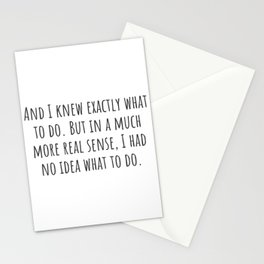 No Idea What To Do Stationery Cards