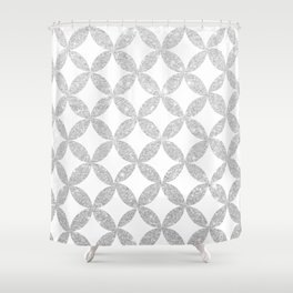 Glitter me Silver Shower Curtain