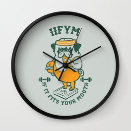 IIFYM (If It Fits Your Mouth) Wall Clock