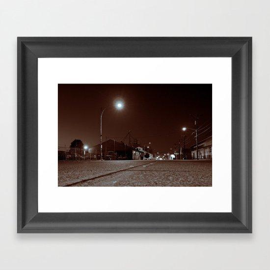 South Tacoma night Framed Art Print