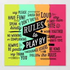 Rules to Play By Canvas Print