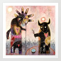 Conjuration of the fylgja Art Print