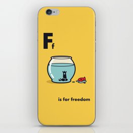 F is for freedom - the irony iPhone Skin