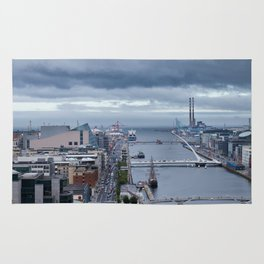Samuel Beckett bridge aerial view Rug