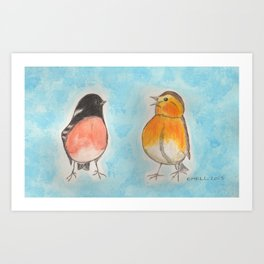Chatty Birds Art Print