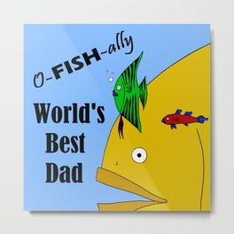 World's Best Dad Metal Print