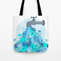 splash Tote Bags featuring Splash by Lienke Raben