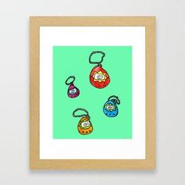 digital keychain pets Framed Art Print