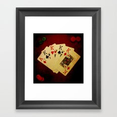 Poker de Reyes (Dirty Poker) Framed Art Print