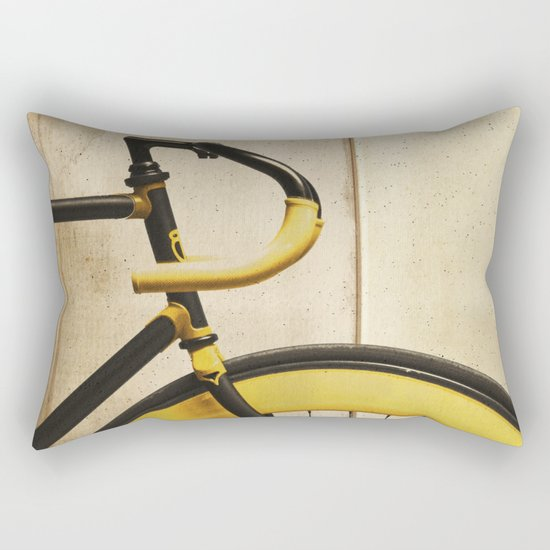 Bike With Yellow Details Rectangular Pillow
