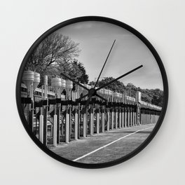 Gasoline Alley, Isle of Man Wall Clock