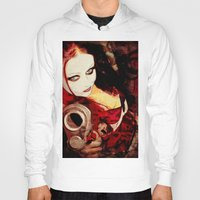 harley Hoodies featuring Harley by Sirenphotos