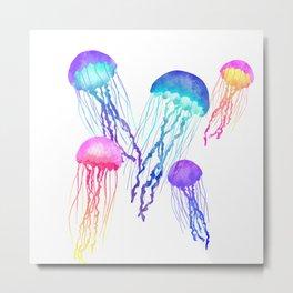 Joyful Jellyfish Metal Print