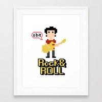 8bit Framed Art Prints featuring 8bit by ulas okuyucu