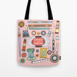 Happiness is Handmade Tote Bag