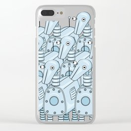 Think with your head Clear iPhone Case