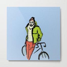 Biker boy Metal Print