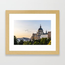 Almudena cathedral of Madrid Framed Art Print