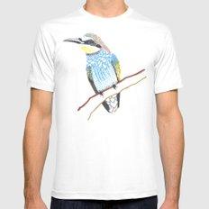 tree bird White MEDIUM Mens Fitted Tee
