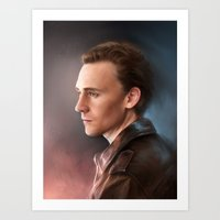 tom hiddleston Art Prints featuring Tom Hiddleston by EternaLegend