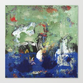 Finback Abstract Blue Green Canvas Print