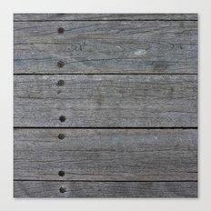Dark Wood Fence Canvas Print