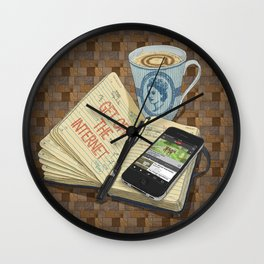 Internet Addict Wall Clock