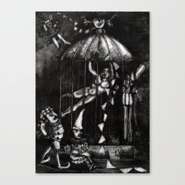 The Fasting Artist Canvas Print