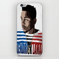 kendrick lamar iPhone & iPod Skins featuring Kendrick  by Tecnificent