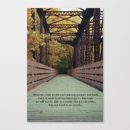 Our journey's end Canvas Print