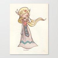 zelda Canvas Prints featuring Zelda by malipi
