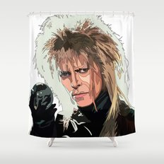 D. Bowie, inside the labyrinth Shower Curtain