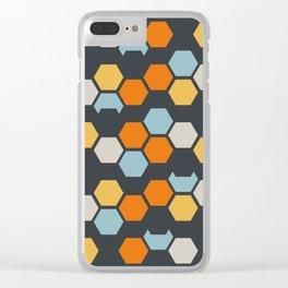 Sam (Gray Blue) Clear iPhone Case