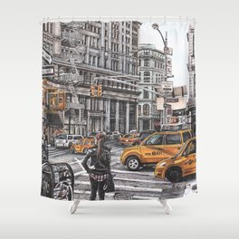 New York I Love You Shower Curtain