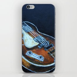 ~orignal Rachael Chatoor acrylic - bass on black~ iPhone Skin