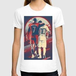 CristianoRonaldo & LeoMessi retro ilustration T-shirt