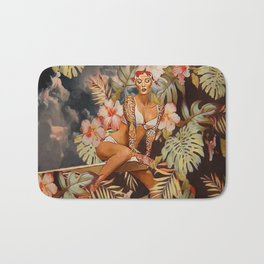 Swimming in the jungle Bath Mat