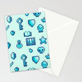 Pixel Gaming Icons Stationery Cards