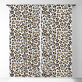 Leopard Print - Bg White Blackout Curtain