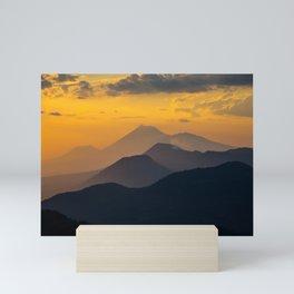 Sunset El Hoyo, Nicaragua Mini Art Print