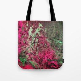 Pink & Green Flow Tote Bag