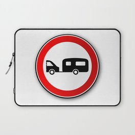 Caravan Road Traffic Sign Laptop Sleeve