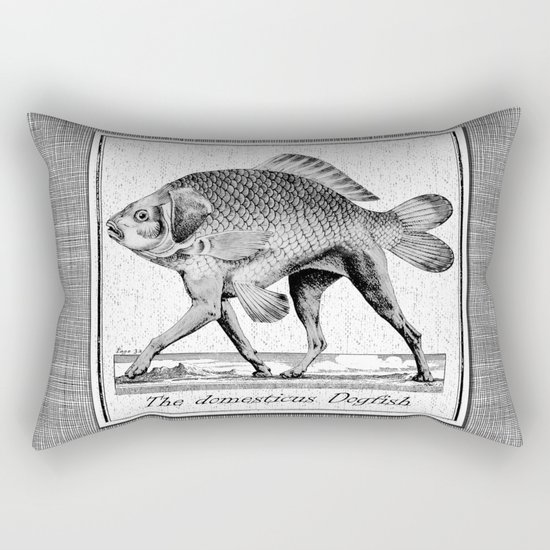 If fishes had legs Rectangular Pillow