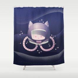 Catstronaut Shower Curtain