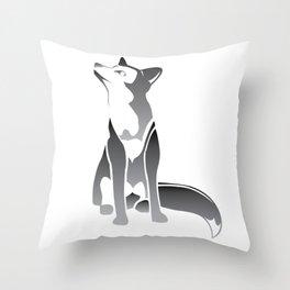 Gradient Wolf Throw Pillow